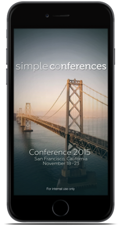 Image of Simple Conferences Start Screen